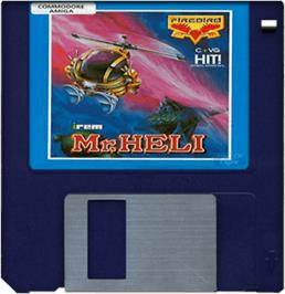 Artwork on the Disc for Mr. Heli on the Commodore Amiga.