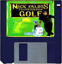Artwork on the Disc for Nick Faldo's Championship Golf on the Commodore Amiga.
