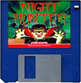 Artwork on the Disc for Night Hunter on the Commodore Amiga.