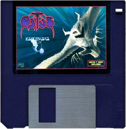 Artwork on the Disc for Obitus on the Commodore Amiga.