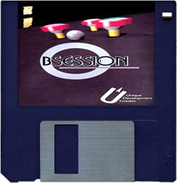 Artwork on the Disc for Obsession on the Commodore Amiga.