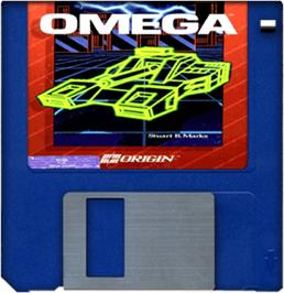 Artwork on the Disc for Omega on the Commodore Amiga.