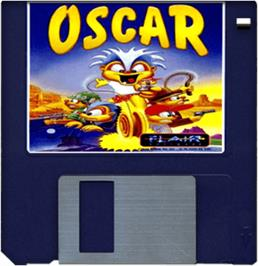 Artwork on the Disc for Oscar on the Commodore Amiga.