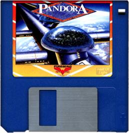 Artwork on the Disc for Pandora on the Commodore Amiga.