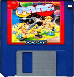 Artwork on the Disc for Pang on the Commodore Amiga.