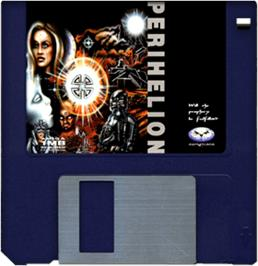 Artwork on the Disc for Perihelion on the Commodore Amiga.