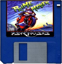 Artwork on the Disc for Prime Mover on the Commodore Amiga.