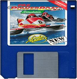 Artwork on the Disc for Pro Powerboat Simulator on the Commodore Amiga.