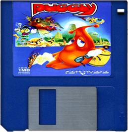 Artwork on the Disc for Puggsy on the Commodore Amiga.