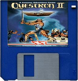 Artwork on the Disc for Questron 2 on the Commodore Amiga.