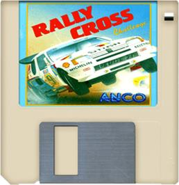 Artwork on the Disc for Rally Cross Challenge on the Commodore Amiga.
