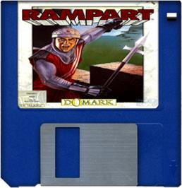 Artwork on the Disc for Rampart on the Commodore Amiga.