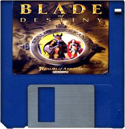 Artwork on the Disc for Realms of Arkania: Blade of Destiny on the Commodore Amiga.