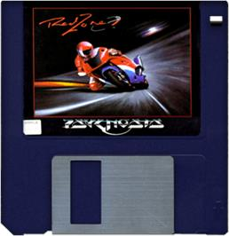 Artwork on the Disc for Red Zone on the Commodore Amiga.