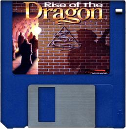 Artwork on the Disc for Rise of the Dragon on the Commodore Amiga.