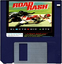 Artwork on the Disc for Road Rash on the Commodore Amiga.