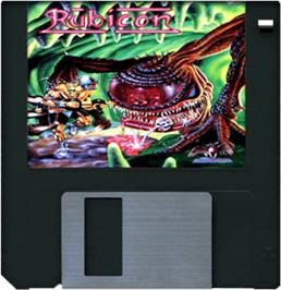 Artwork on the Disc for Rubicon on the Commodore Amiga.