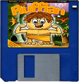 Artwork on the Disc for Ruffian on the Commodore Amiga.