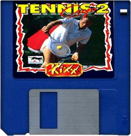 Artwork on the Disc for Tennis Cup 2 on the Commodore Amiga.