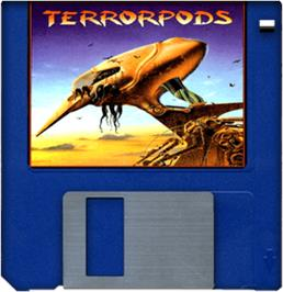 Artwork on the Disc for Terrorpods on the Commodore Amiga.