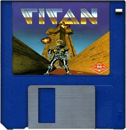 Artwork on the Disc for Titan on the Commodore Amiga.