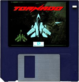 Artwork on the Disc for Tornado on the Commodore Amiga.