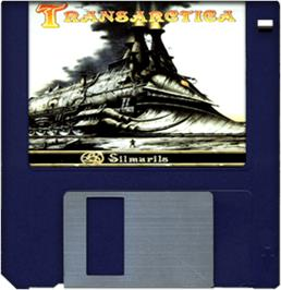 Artwork on the Disc for Transarctica on the Commodore Amiga.