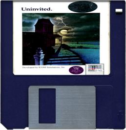 Artwork on the Disc for Uninvited on the Commodore Amiga.