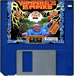 Artwork on the Disc for Vampire's Empire on the Commodore Amiga.