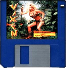 Artwork on the Disc for Vixen on the Commodore Amiga.