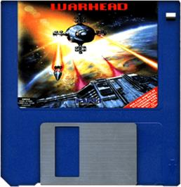Artwork on the Disc for Warhead on the Commodore Amiga.