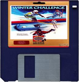 Artwork on the Disc for Winter Challenge: World Class Competition on the Commodore Amiga.