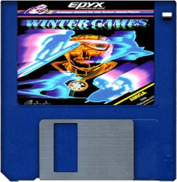 Artwork on the Disc for Winter Games on the Commodore Amiga.