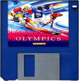 Artwork on the Disc for Winter Olympics: Lillehammer '94 on the Commodore Amiga.
