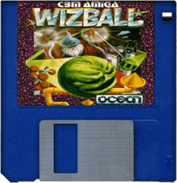 Artwork on the Disc for Wizball on the Commodore Amiga.