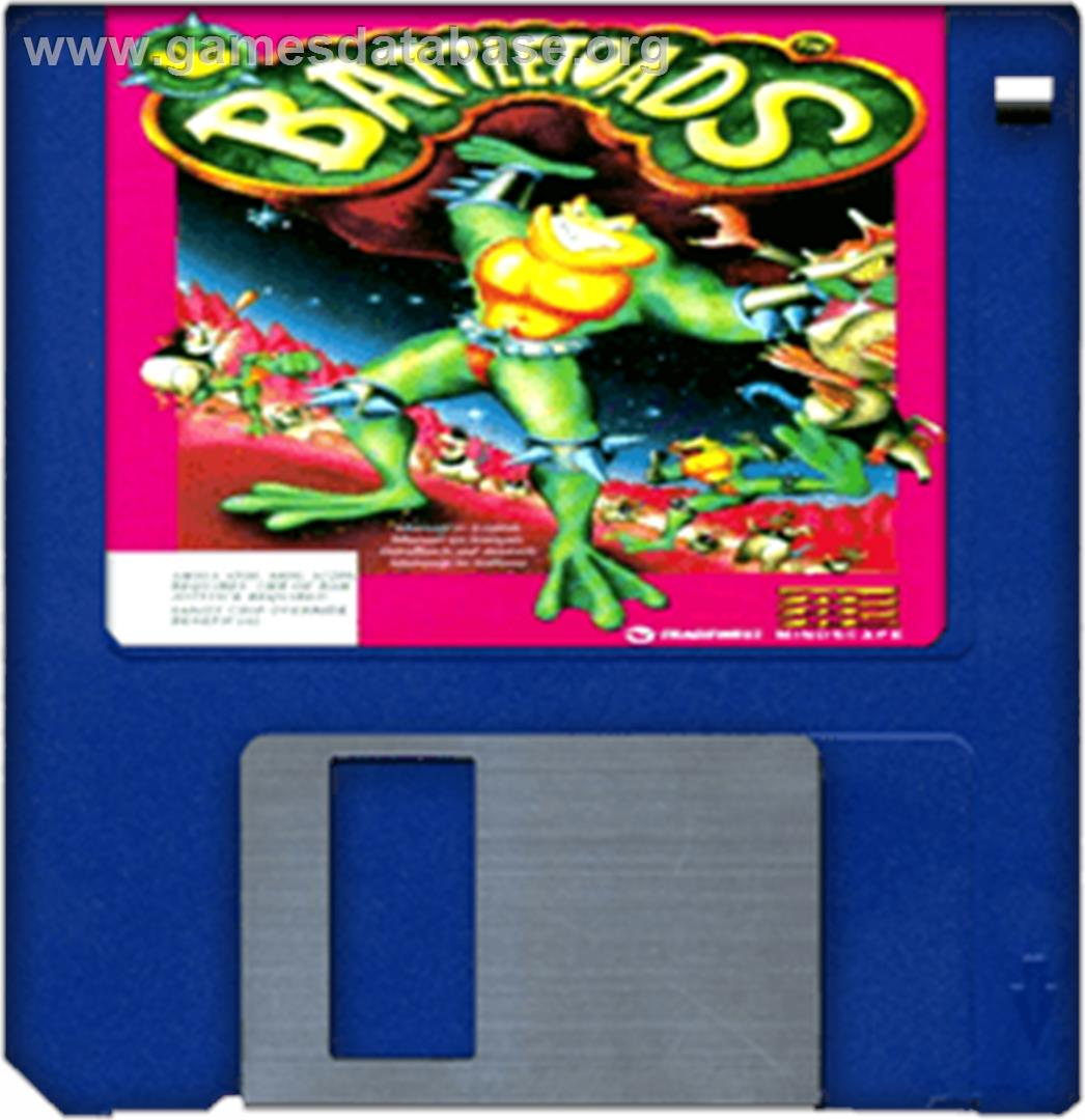 Battle Toads - Commodore Amiga - Artwork - Disc