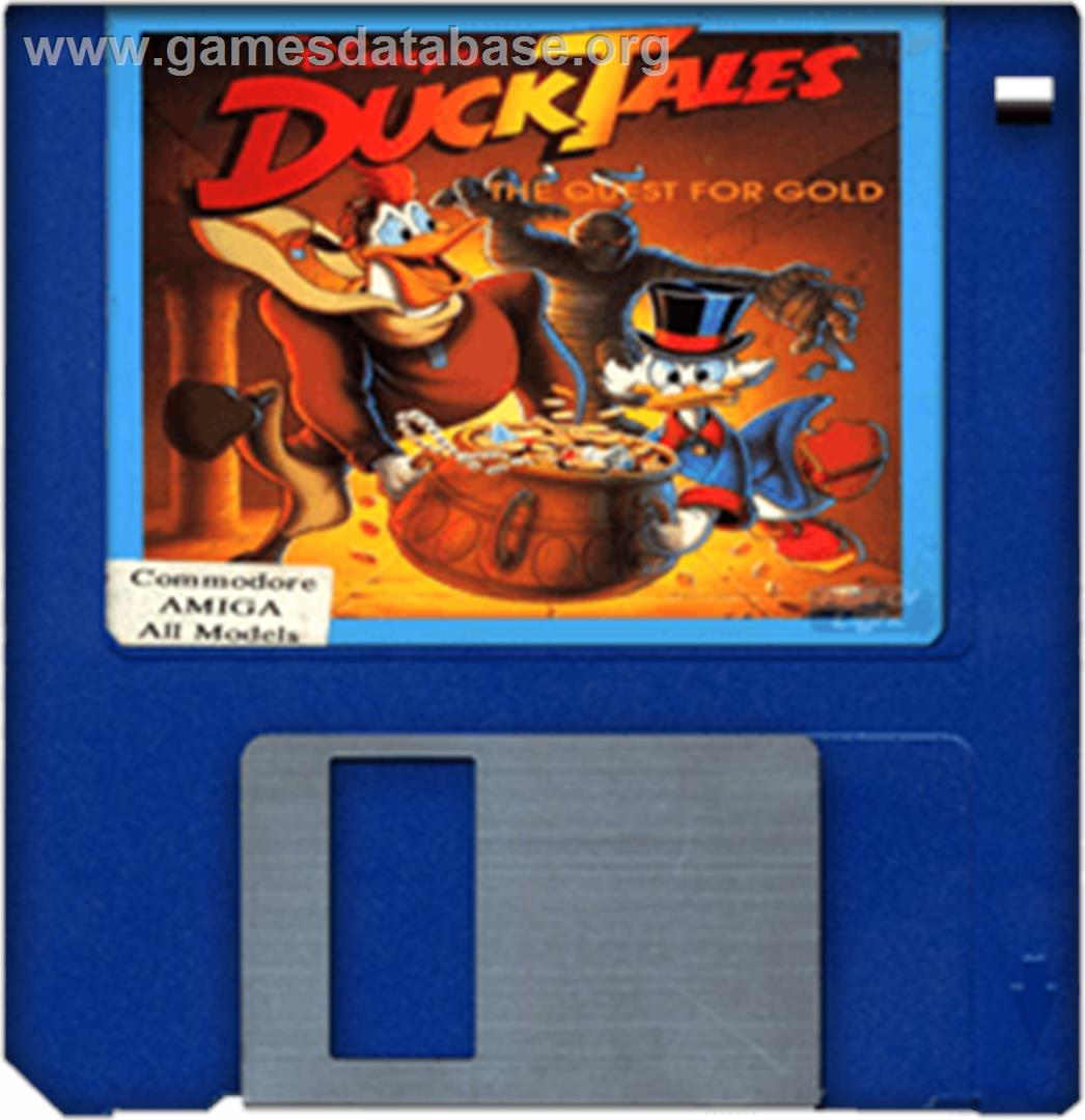 Duck Tales: The Quest for Gold - Commodore Amiga - Artwork - Disc