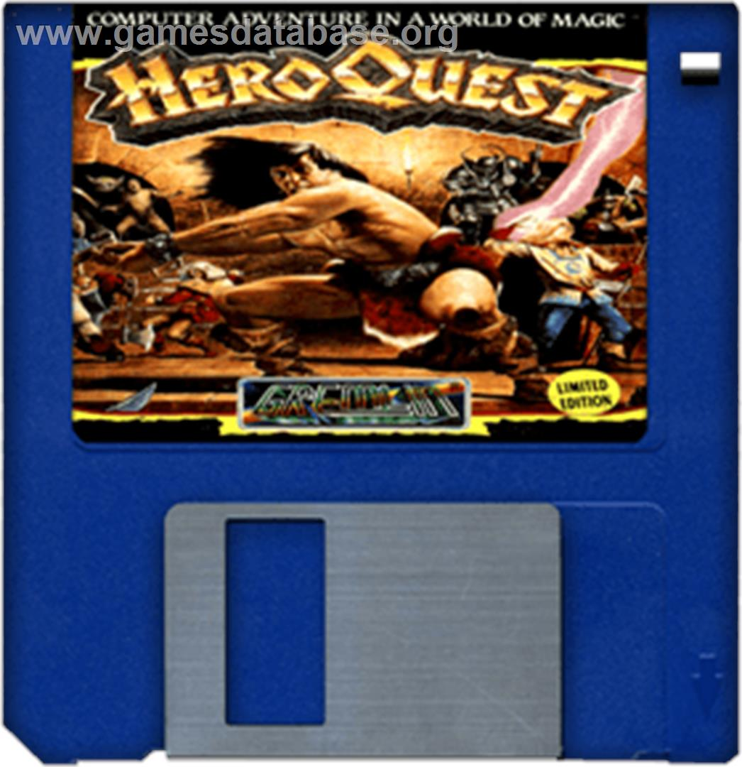 Hero Quest - Commodore Amiga - Artwork - Disc