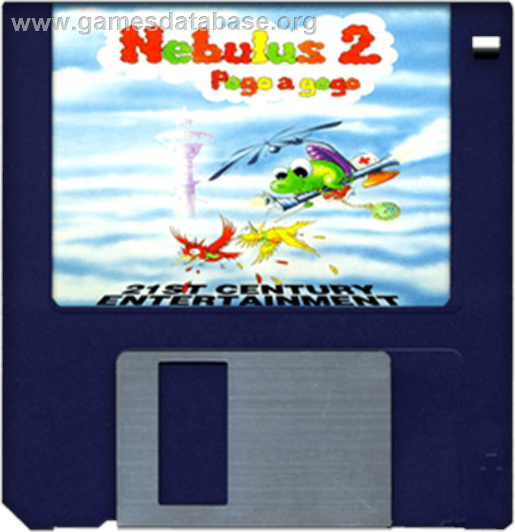 Nebulus 2: Pogo-A-Go-Go - Commodore Amiga - Artwork - Disc