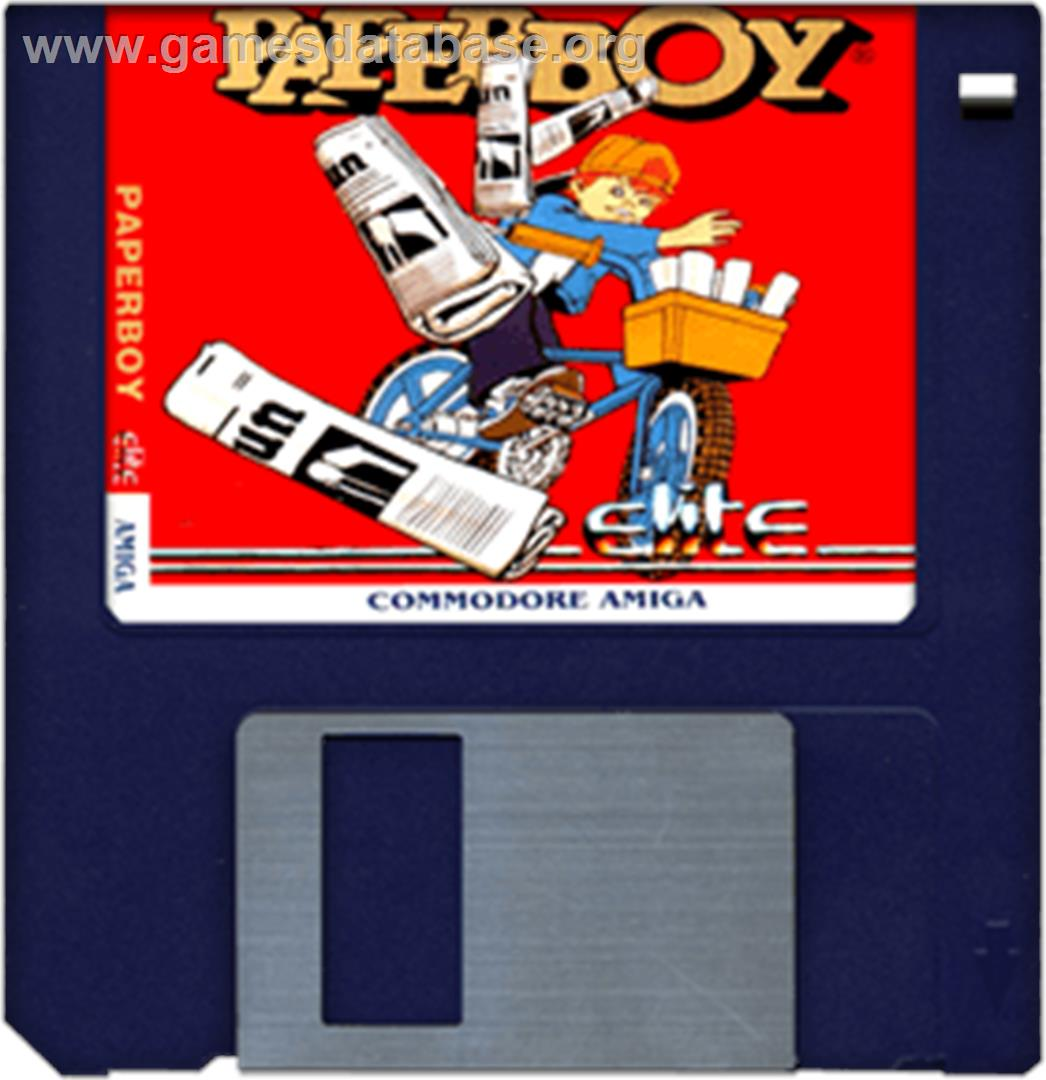 Paperboy - Commodore Amiga - Artwork - Disc