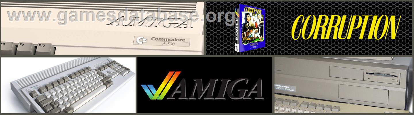 Corruption - Commodore Amiga - Artwork - Marquee