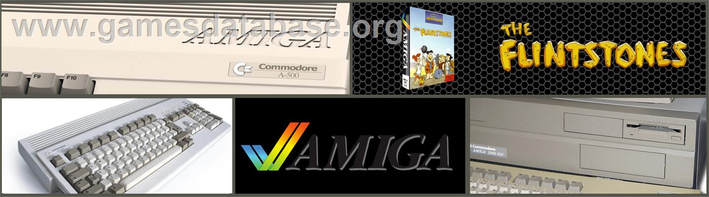 Flintstones - Commodore Amiga - Artwork - Marquee