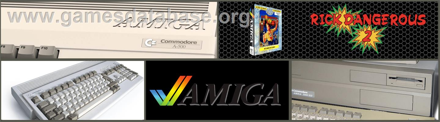 Rick Dangerous - Commodore Amiga - Artwork - Marquee
