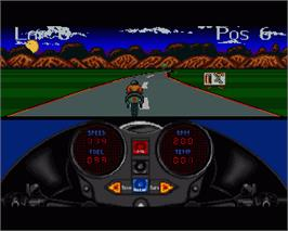In game image of 1000cc Turbo on the Commodore Amiga.