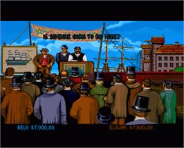 In game image of 1869 on the Commodore Amiga.
