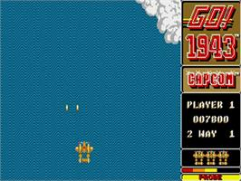 In game image of 1943: The Battle of Midway on the Commodore Amiga.