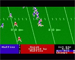 In game image of 4th & Inches on the Commodore Amiga.