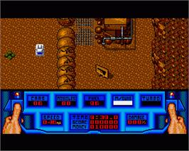 In game image of 5th Gear on the Commodore Amiga.