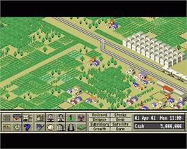 In game image of A-Train on the Commodore Amiga.