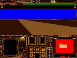 In game image of A.G.E. on the Commodore Amiga.